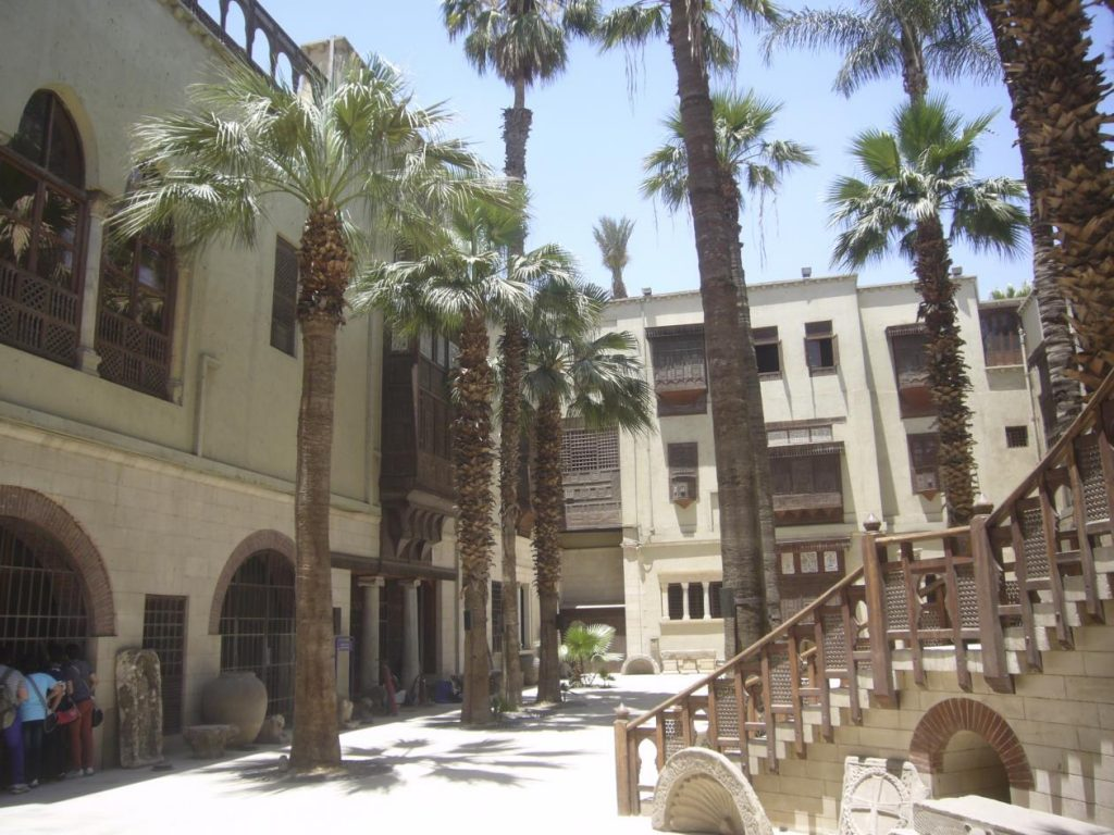 "Figure 5: Inner courtyard of the ""Old wing"" with Ottoman mashrabiyas."
