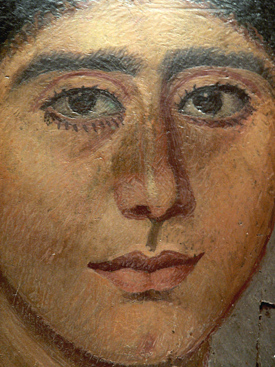 Mummy portrait in encaustic from Antinoopolis