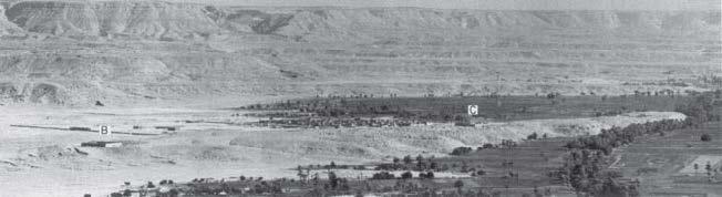 Fig. 2: Cemetery A (al-Haw¯aw¯aš) from northwest. B = Dayr al-Wast¯anī, C = Dayr al Qiblī; after Kuhlmann, 1983: pl. 19 b).