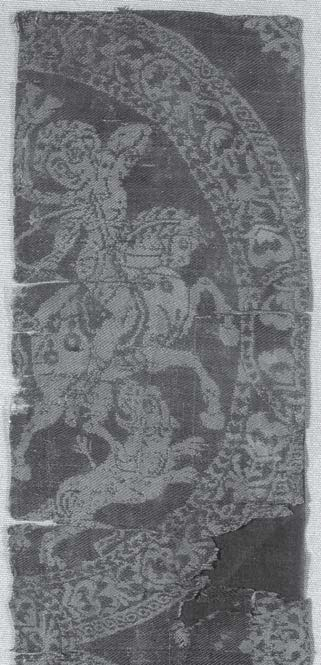 Fig. 3: Fragment of silk weaving with Amazons. © Gustav-Lübcke Museum, Hamm, inv. 1341–1342.