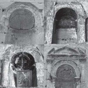 Fig. 2. The repertoire of niches in the White Monastery: a [niche 52], b [niche 9], c [niche 26], d [niche 45] (Photograph: Suzana Hodak and Siegfried G. Richter).