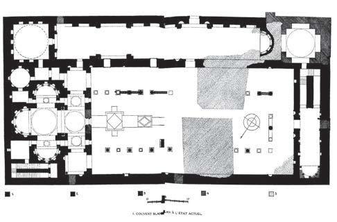 Fig. 1. Plan of the church of St. Shenoute (Monneret de Villard 1925-1926, vol. 1: pl. 1).