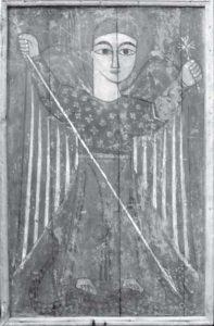 Icon of The Archangel Michael in Dayr al-Salamun. Photograph: Sami Sabri Shaker, 1980s