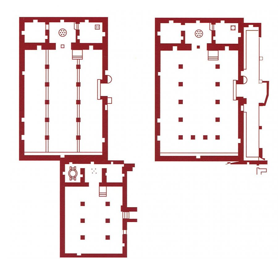 Fig. 2. West and East churches at Kellia