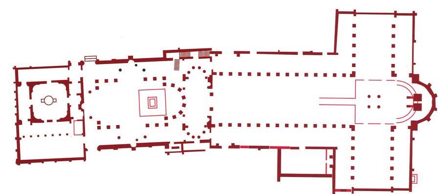 Fig. 8. Basilica and baptistery at Abu Mina
