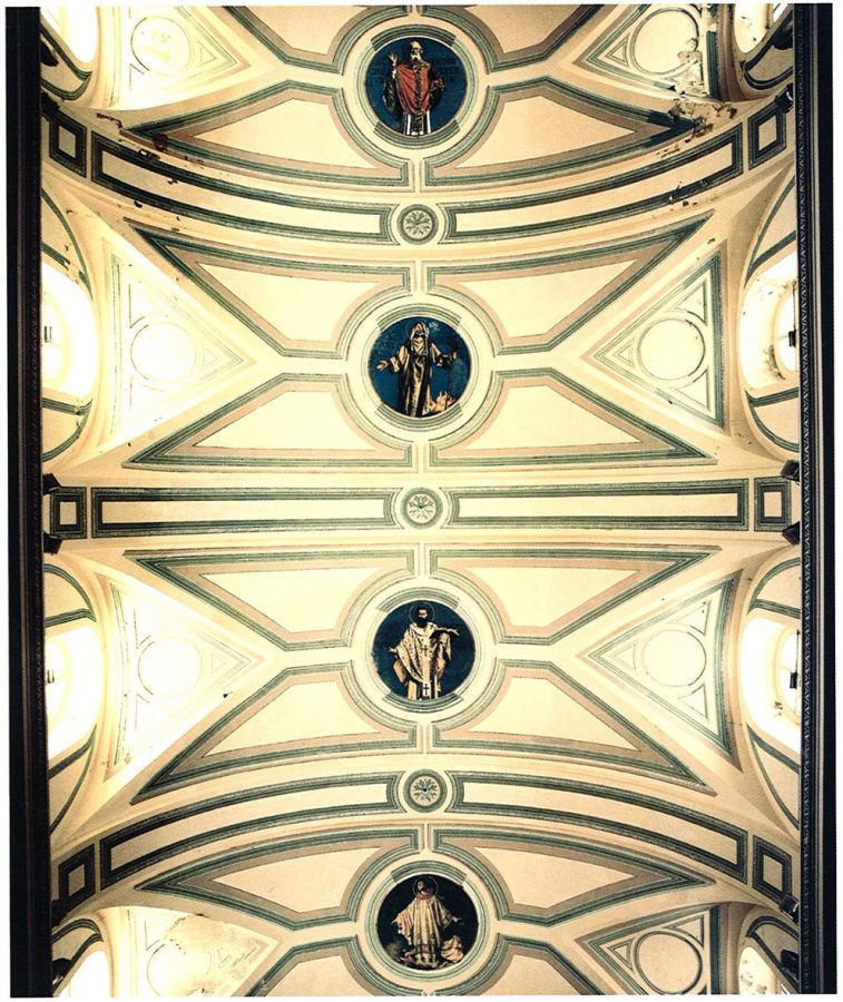 Ceiling including portraits of Sts. Cyril, Antony, Athanasius.