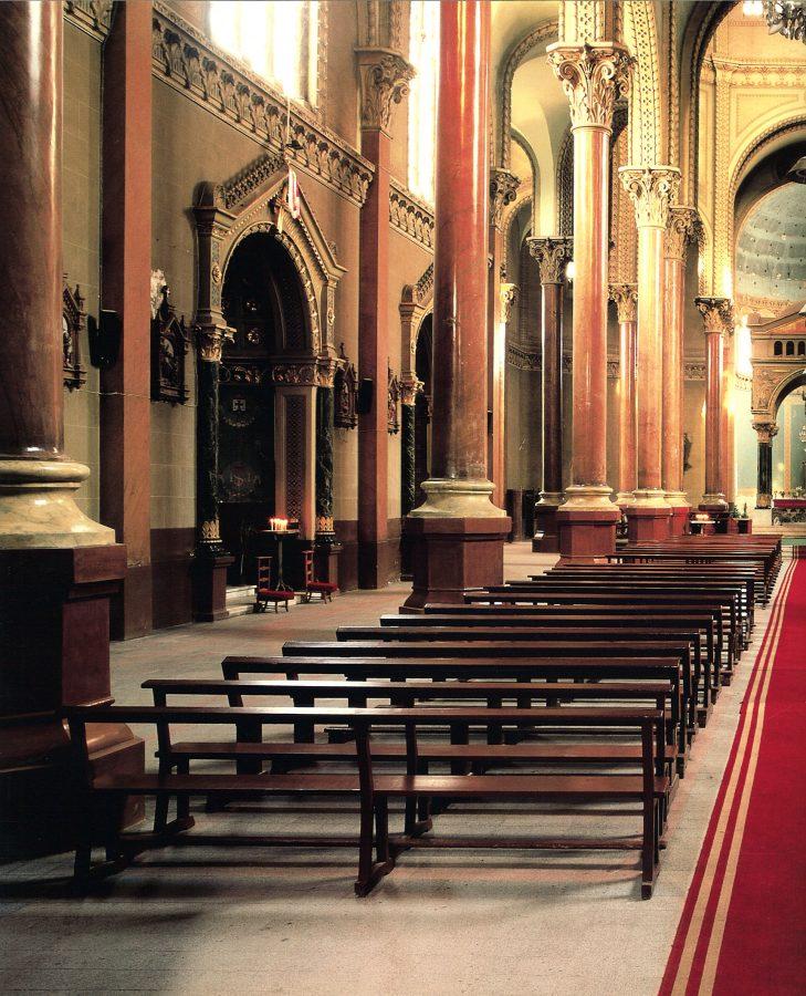 Interior view toward the high altar.