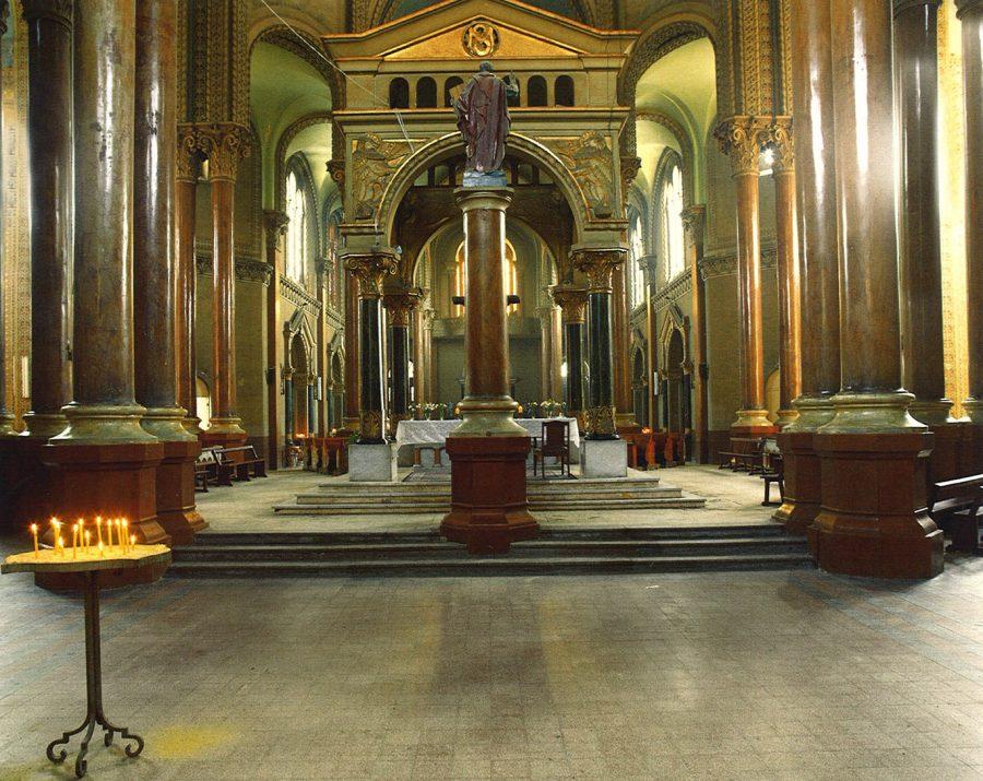 Interior view toward the entrance.