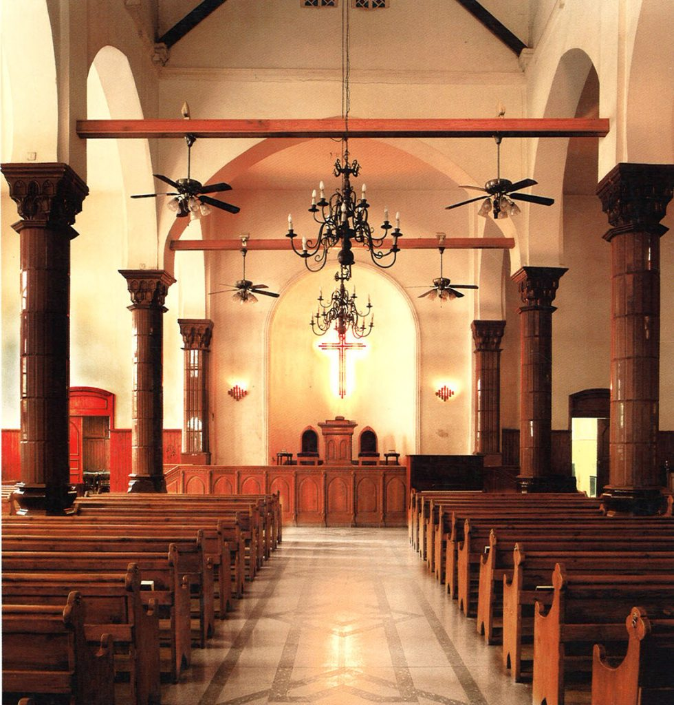 Interior view looking toward the pulpit