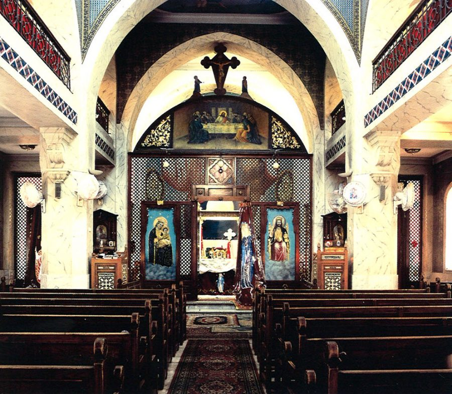 Interior view looking toward the sanctuary.