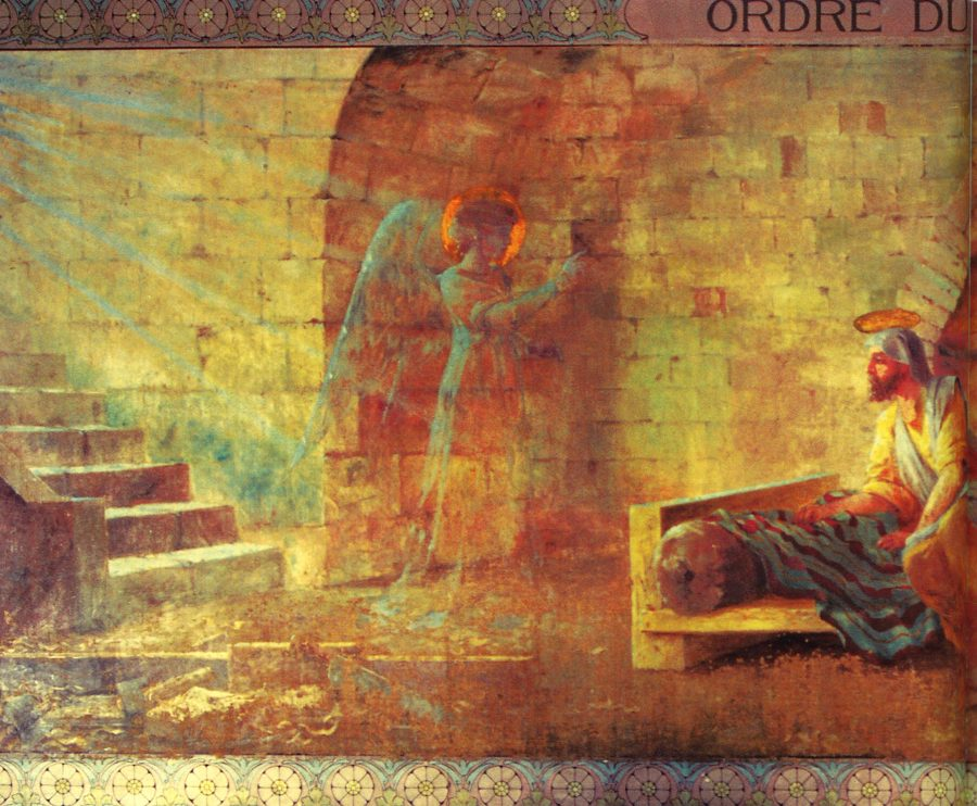 The Order of Departure: angel coming to Joseph.