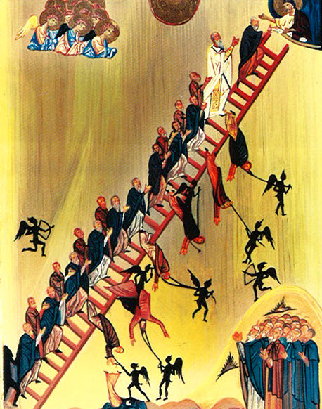Icon of the 'Heavenly Ladder' of St. John Climacus.
