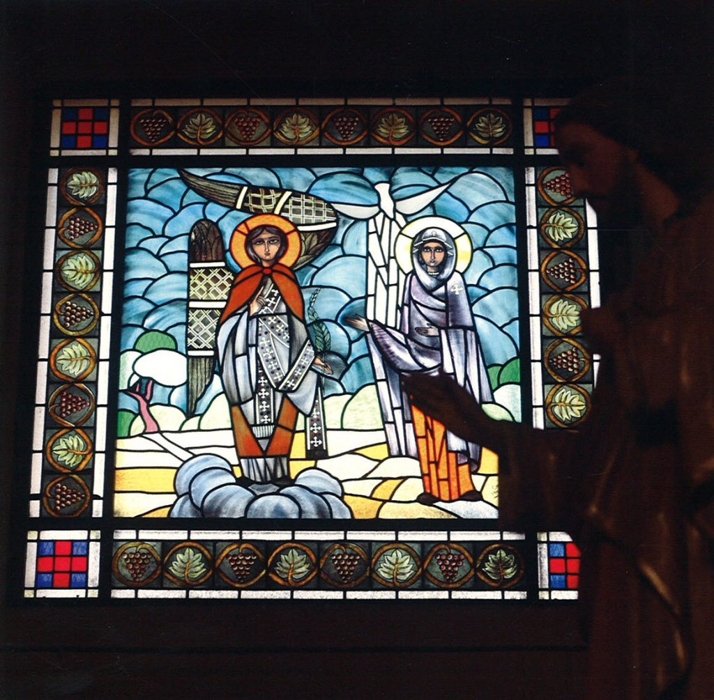 Stained glass: Annunciation