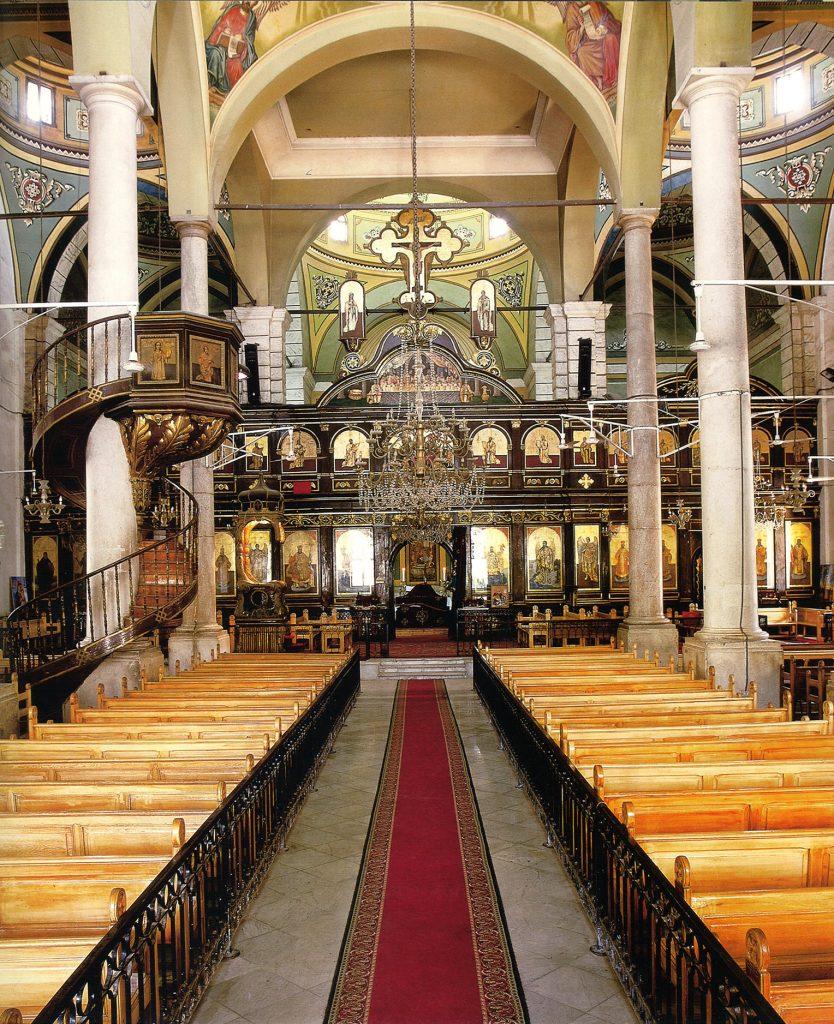 Interior view toward the sanctuary.