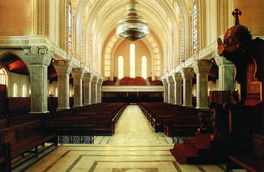Interior looking west.
