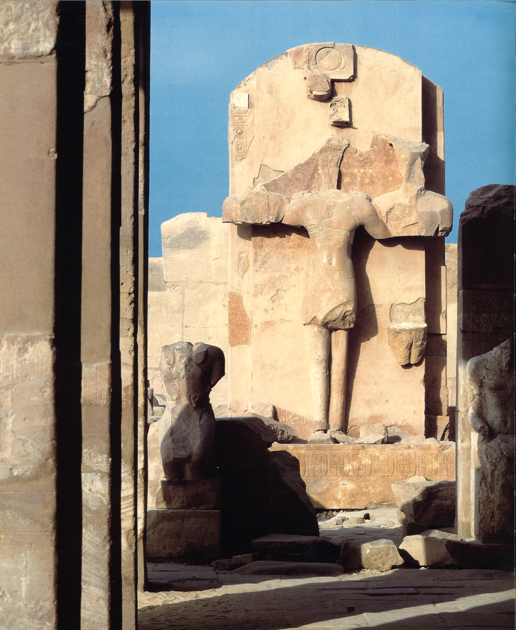 The Festival Hall ofThutmosis III in Karnak Temple. View to the north. The Festival Hall was converted in the late antique period to a church.
