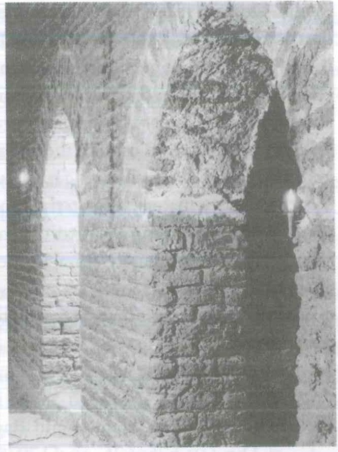 Fig. 8.5. Qusqam, part of the ground of the floor ancient keep, mid-twentieth century. ancient keep, mid-twentieth century.
