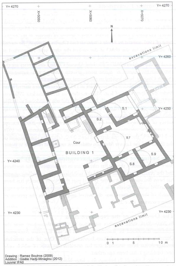 Fig. 21.2. Plan of Building 1. © Louvre Museum/IFAO, R. Boutros, and G. Hadji-Minaglou.