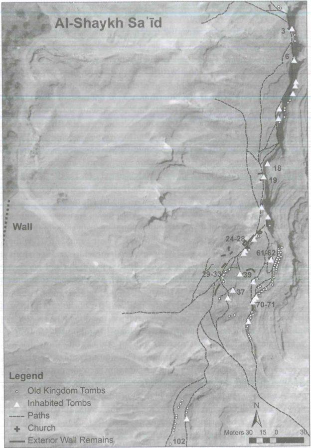 Fig. 24.5. The settlement pattern at al-Shaykh Sa'id.