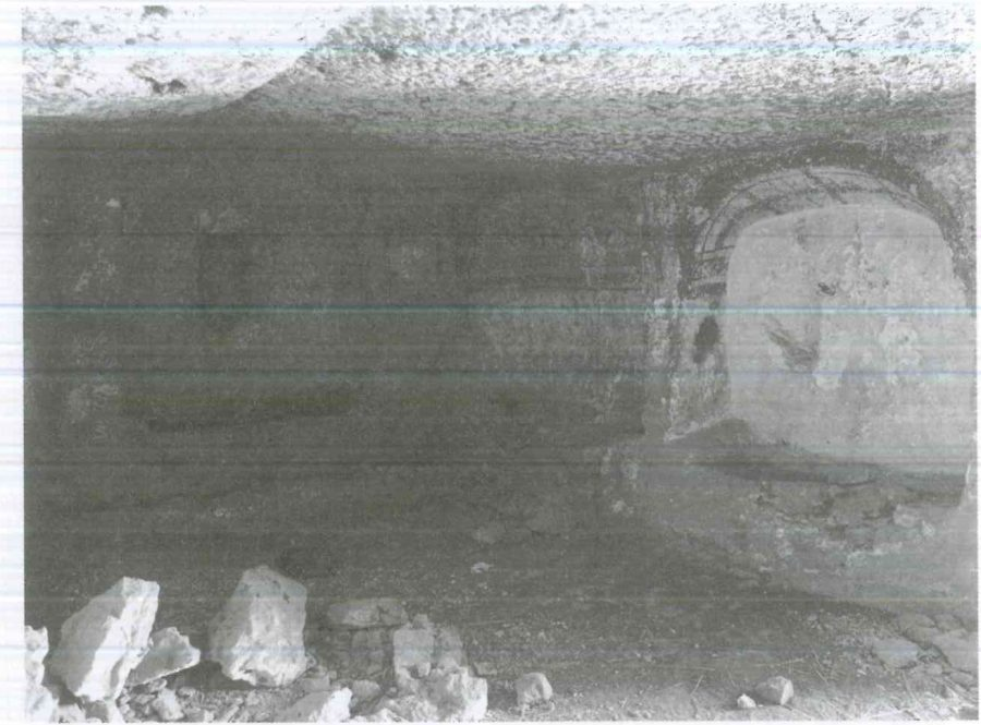 Fig. 24.6. Al-Shaykh Sa'id, Tomb 39, view to the southwest, with three niches holding beds. © G.J.M. van Loon 2008.