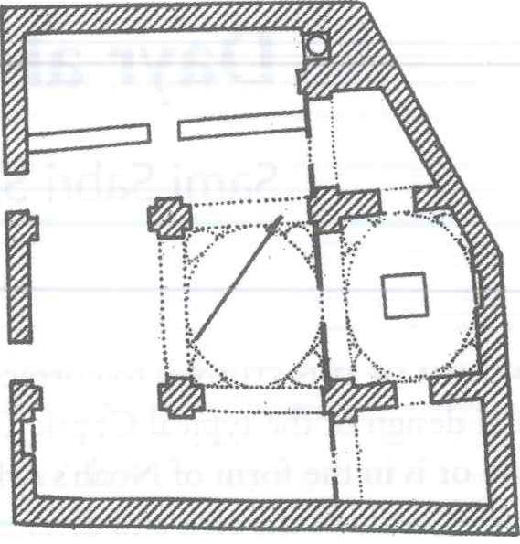 Fig. 28.2. Al-Amir Tadros (St. Theodore) Church at Dayr Bisra (al-Suriany and Habib 1990: 98).