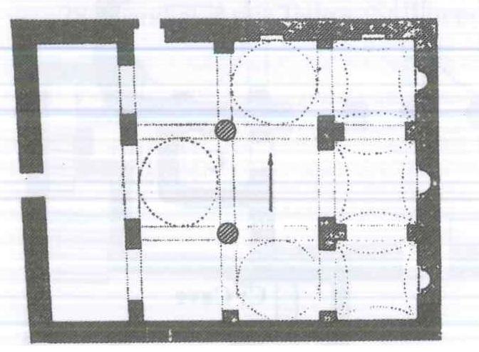 Fig. 28.5. Dayr al-Meshreki at Ezbet Doss, Dayrut. Redrawn by author from al-Suriani and Habib 1990: 110.