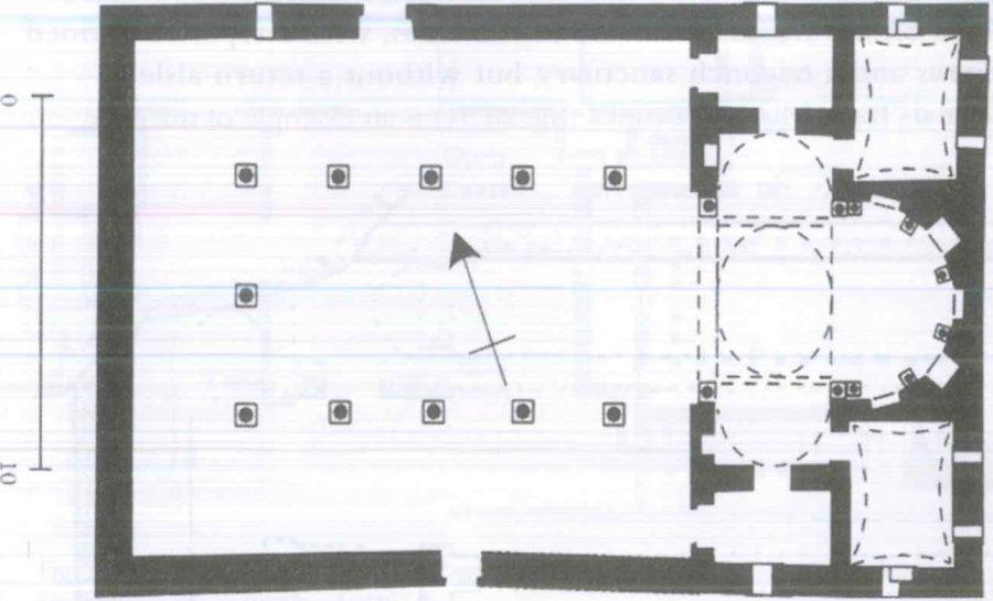 Fig. 28.29. The church of Dayr Abu Fana (St. Epiphanius), Mallawi. Redrawn by author from Grossman 2002: 136.
