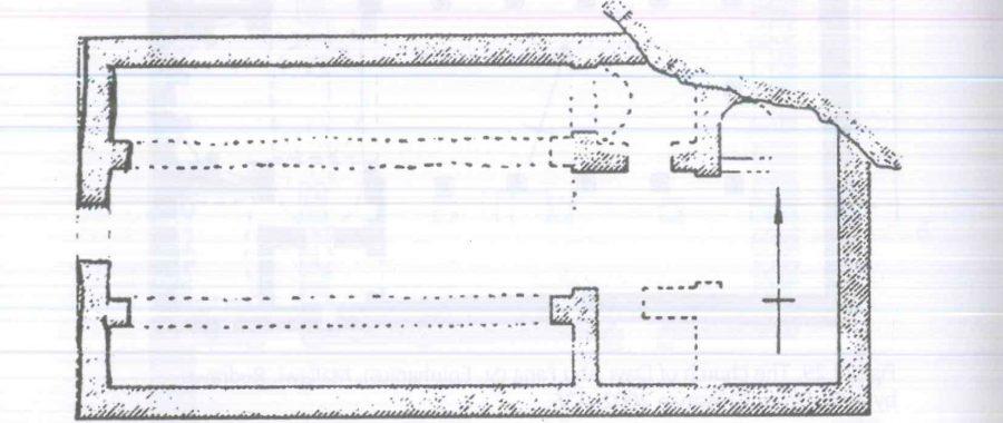 Fig. 28.31. The church of Dayr al-'lzam, Mount Durunka (al-Suriani and Habib 1990: 96).