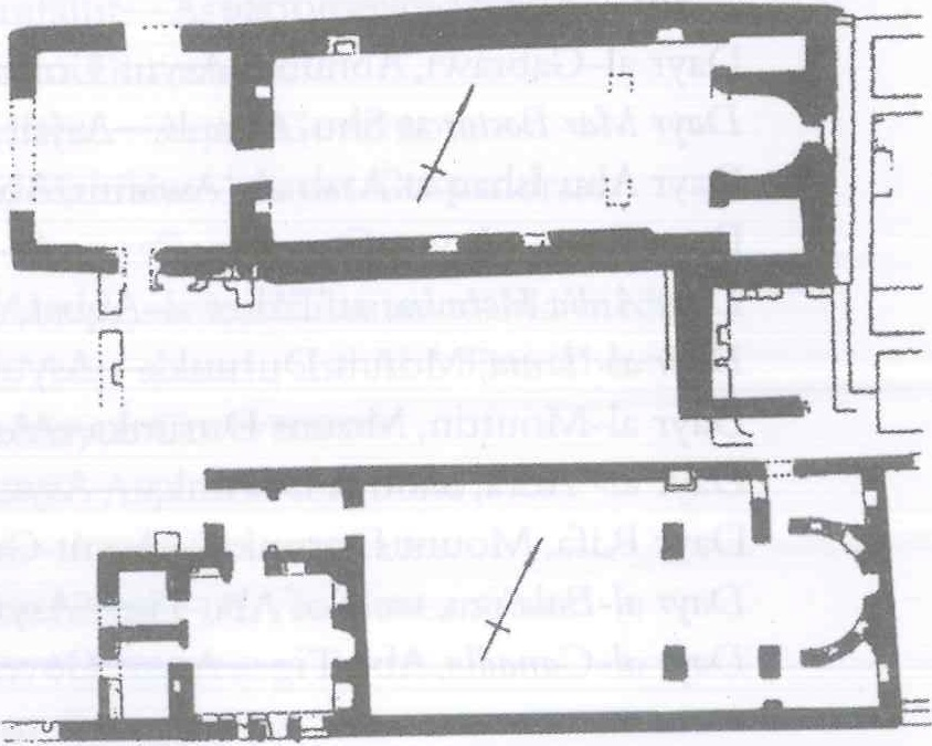 Fig. 28.33. The ruined churches of Manqabad (al-Suriani and Habib 2002: 165).