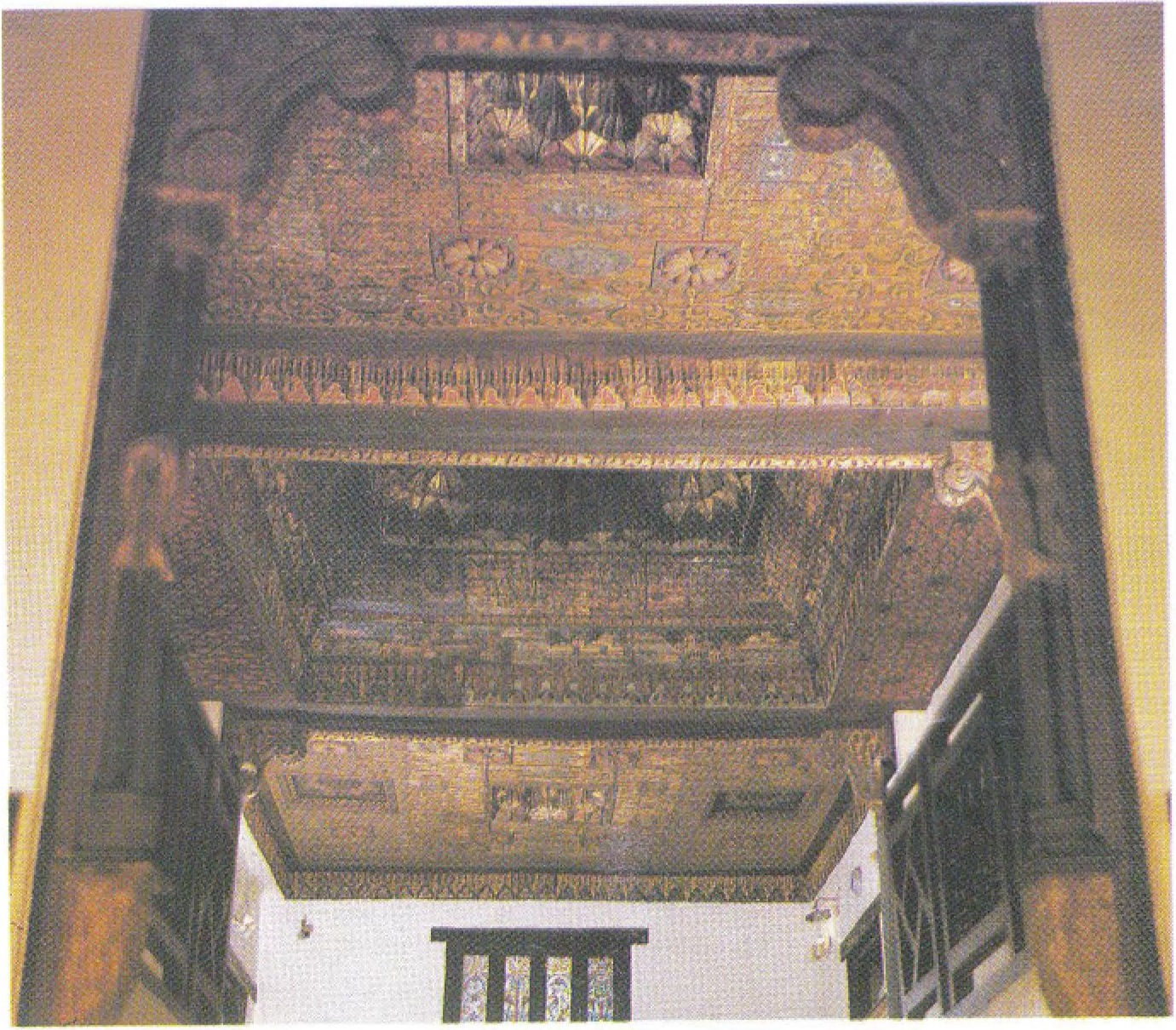 The intricately carved wooden ceiling of the Old Wing of the Coptic Museum is in itself a work of art.